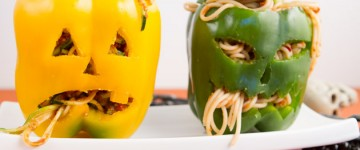 Stuffed Jack-o'-Lanterns with Pasta