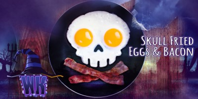 Skull Fried Eggs and Bacon